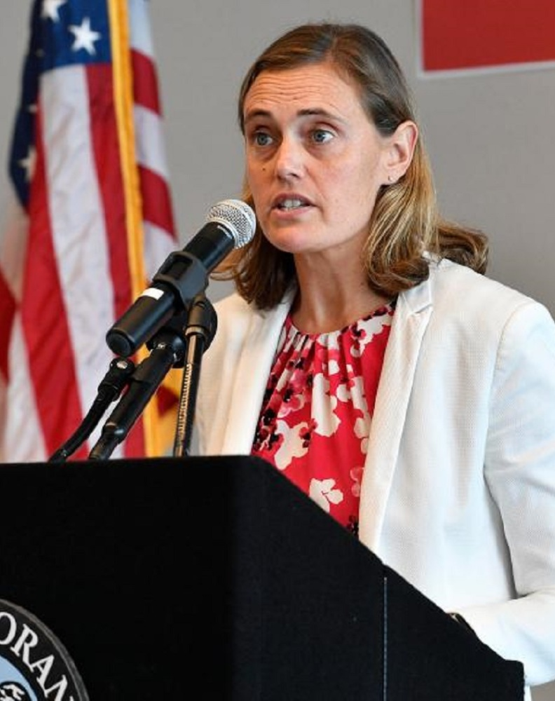 Orange County Health Care Agency Officer Dr. Nichole Quick during a news conference in Santa Ana, CA, to announce the county's first coronavirus (COVID-19) death on Wednesday, Mar 25, 2020 (File photo by Jeff Gritchen, Orange County Register/SCNG)