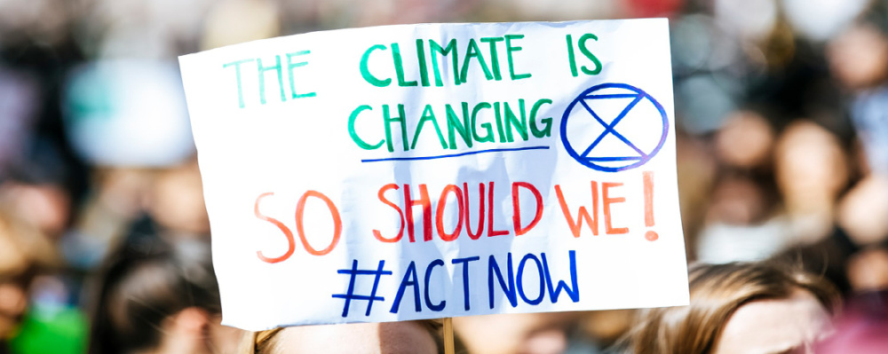 image: climate change protest